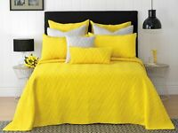 Bianca Hudson Vibrant Yellow Fully Reversible Bedspread Set in All Sizes