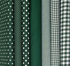 Baumwollstoffe Grün Meterware Stoff Uni Punkte Sterne Karo Patchwork Deko 9,96€m