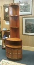 Nathan Furniture Teak Corner Cabinets