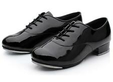 Econ-o-me Theatricals 5011T Black Boy's Size 9M Oxford Patent Lace-Up Tap Shoe