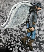 Lemmy in Heaven. Motorhead angel wall hanger. New. Hand made by artist.