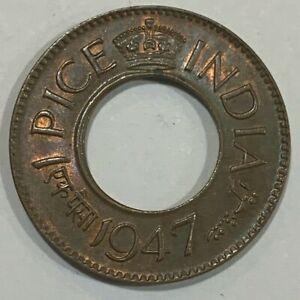 1947 India 1 Pice - George VI UNC Coin