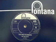 "The High Numbers The Who I'm The Face 7"" Fontana Re-issue Very Ltd Rare"