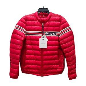 Moncler Sz 4 Red Down Retro Renauld Jacket NWT Retail 1195