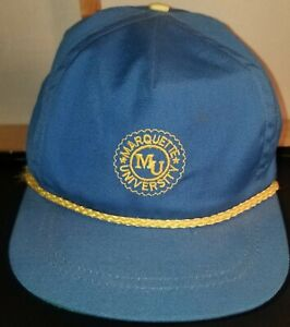 Vintage Marquette University hat Blue and yellow