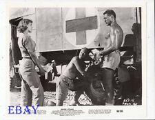Anthony Quayle barechested VINTAGE Photo Desert Attack