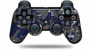 Skin for PS3 Controller WraptorCamo Old School Camouflage Camo Blue Navy