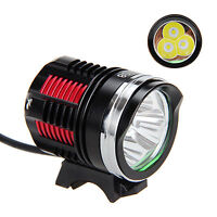9000Lm 3X XM-L R8 LED Head Front Bicycle Lamp Bike Light Headlight Headlamp