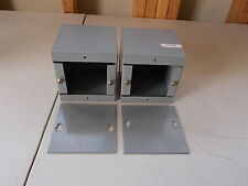"Lot of 2 4"" x 4"" x 4"" Enclosure Boxes, with Covers *FREE SHIPPING*"