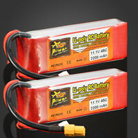 2X 3S 11.1V 2200mAh 45C Rechargeable LiPo Battery for RC Car Aircraft Toys