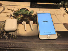 Apple iPhone 7 - 32GB -  Silver and White, Unlocked W/ Apple AirPods - Bundle