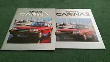 1984 / 1985 TOYOTA New CARINA II - UK 26 PAGE BROCHURE + OUTER COLOUR FOLDER