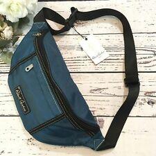 Robert Graham Hackman 3-Pocket Fanny Pack Travel Bag Adjustable Navy NWT