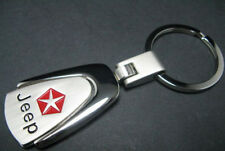 FASHION JEEP 2500 252 Key Chain Ring-CHROME Plated Silver Metal KEYRING KEYCHAIN