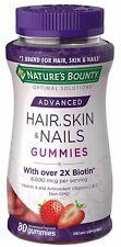 Nature's Bounty Optimal Solutions Advanced Hair Skin Nails 2X Biotin 6000 mcg