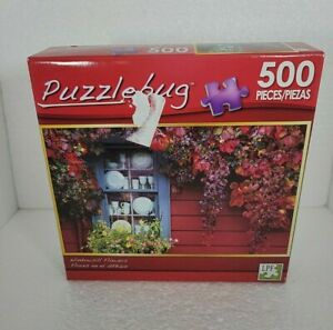 New Sealed Puzzlebug 500 piece puzzle Windowsill Flower's