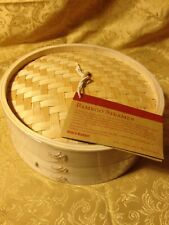 "World Market 10"" Bamboo Steamer New Sealed"