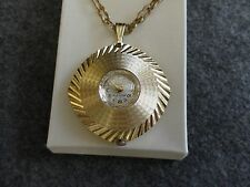 Up Watch with a Second Hand Westclox 17 Jewels Necklace Pendant Wind