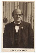 1908 Postcard of Presidential Candidate William Jennings Bryan