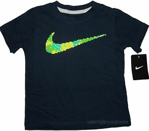 NIKE T-SHIRT TEE BOYS CUTE SAYING SPORTS TOP SHIRT Athletic CLOTHES KIDS LITTLE