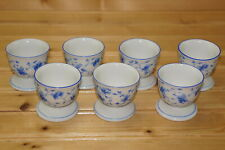 Arzberg Blue Flowers (7) Egg Cups, 1 3/4""