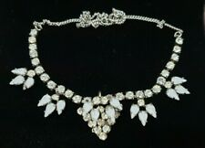 VINTAGE CRYSTAL AND MOONSTONE NECKLACE