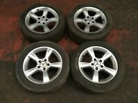 MERCEDES ALLOY WHEEL SET 6JX16 WITH TYRES 225/50/R16 C CLASS W203 2034013102