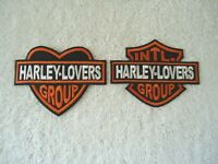 "Set Of 2 "" NOS "" Harley Lovers Group Patches,1,Heart Shaped,1,Intl."" GREAT SET """