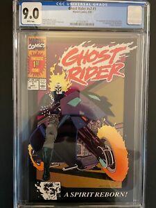 Ghost Rider vol.3 #1 CGC 9.0 Error 2nd Print Label 1st Deathwatch Marvel GR1-27