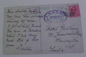 PORTUGAL  CABO VERDE  S. VICENTE on ENLISH STAMP 1909 RMSP TO LONDON UNLISTED