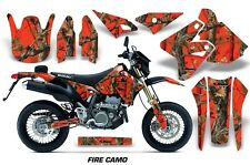 Suzuki Graphic Kit AMR Racing Bike Decal DRZ 400 Decal MX Part 00-15 FIRE CAMO