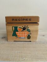 Vintage Nevco Wooden MCM Recipe Box, Kitchen Pots & Utensils, Hand-Painted