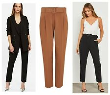 ex Wallis Tailored Longline Jacket Tapered High Waist Belted Trousers Suit