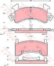 GDB1272 TRW Lot de plaquettes de frein, frein à disque Essieu avant