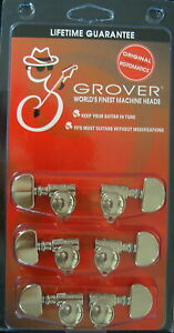 "Grover 102NV Original ""Milk Bottle"" style Rotomatic Tuners 3 +3 Nickel Finish"