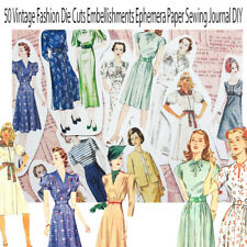50 Vintage Fashion Die Cuts Embellishments Ephemera vintage simplicity pattern