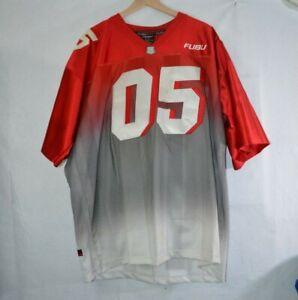 FUBU Sports Classic 05 Football Jersey Vintage 2000 Hip Hop XXL Red Grey Rap Y2K