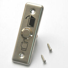 Exit Switch Stainless Steel Plate Narrow Push Release Button For Door Lock Open