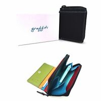 Golunski Black Trop Multi Coloured Leather Small Purse Wallet NEW With Gift Box