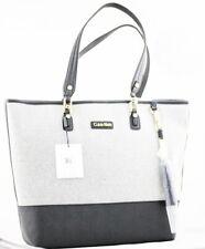 Calvin Klein CK Handbag Canvas Purse Black Gray Shoulder Bag H5ABG2ZS Authentic