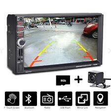 7 Zoll 2 DIN AUTORADIO GPS Navi Navigation FM USB SD MP3 EU MAP + Rückfahrkamera