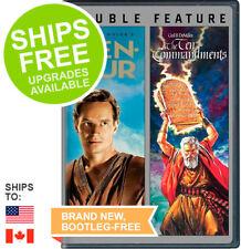Ben Hur / Ten Commandments (DVD, 2013) NEW, Sealed, Charlton Heston
