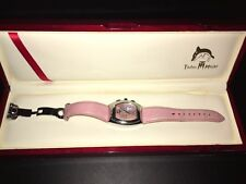 Techno Master Women's Pink Pearl Dial P Genuine Leather Band Watch TM2052 35mm