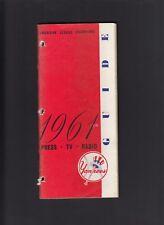 New York Yankees 1961 Vintage Press-Media Guide