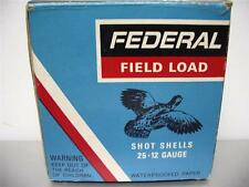 FEDERAL  Shot Shell Box EMPTY   12 gauge 8 Shot    Good   Condition
