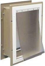 "Large Wall Entry Pet Dog Entry Door Pet Safe Aluminum 10 1/4"" W X 26 cm L"