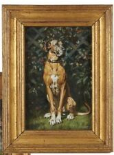 British Portrait Artist Alfred Egerton Cooper Portrait Of A Great Dane. Signed