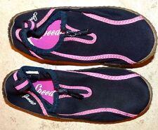 EUC Youth Junior Girl's Small 13 / 1 Speedo Black Pink Zip Up Water Sport Shoes