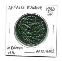 "*So Called Dollar 1980 BU ""Affaire D'Amour"" Minerva 1976"