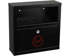 Alpine Industries Black Quick Clean Cigarette Butt Disposal Steel Tower Bin